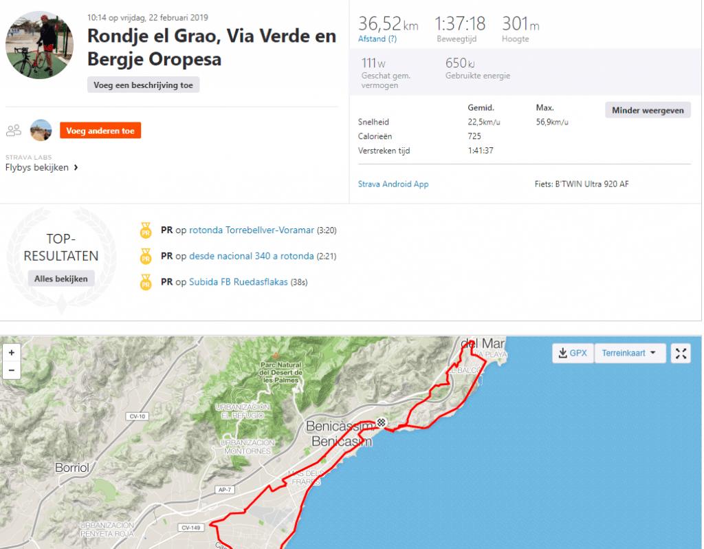 ROndje El grao - via verde- bergje