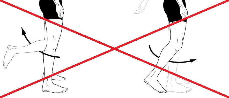 beweging vanuit de knie