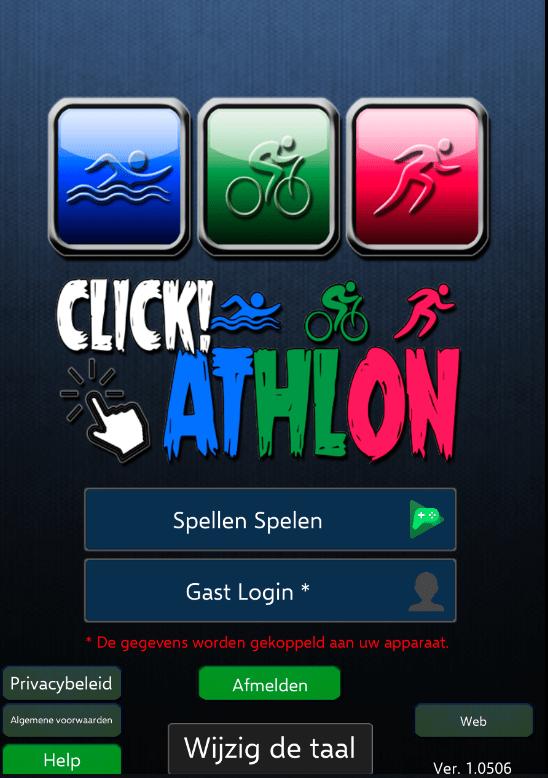 Clickathlon triathlon game