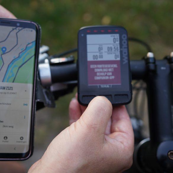 GPX bestand downloaden en op een Wahoo fietscomputer zetten