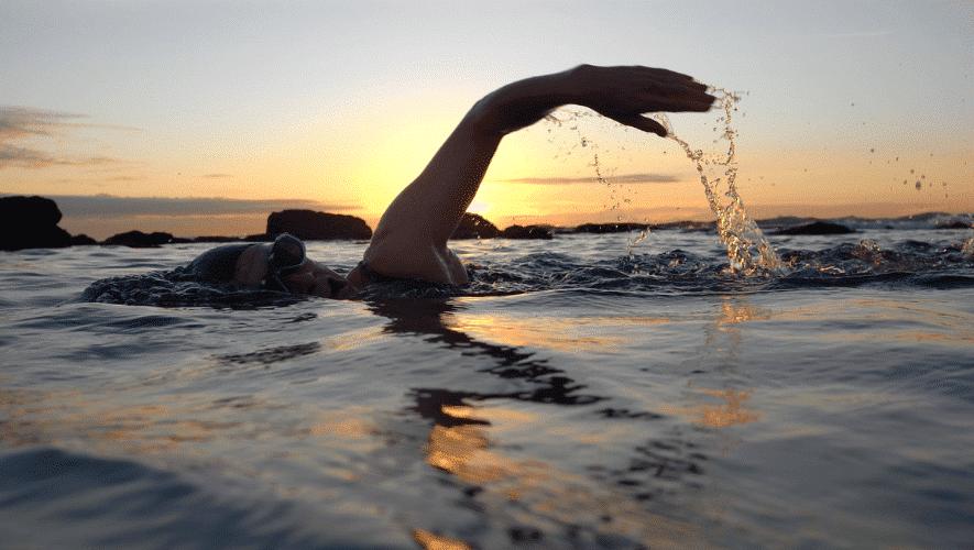zwemafstand van een hele triathlon