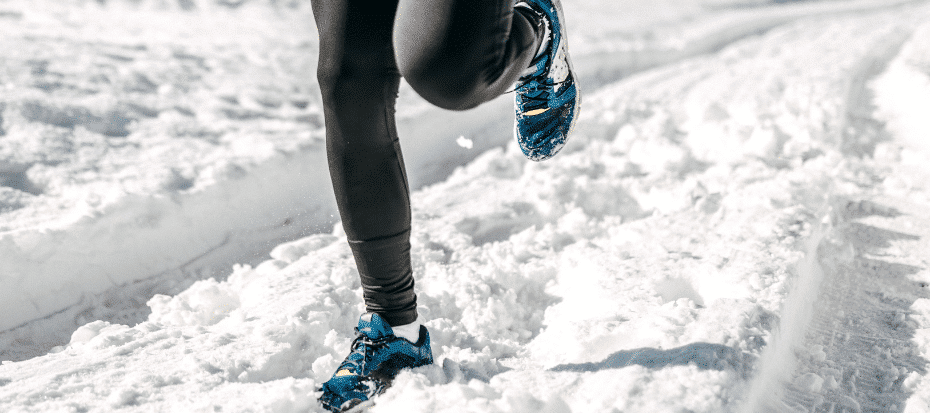 Hardlopen in de sneeuw: Trailrunning schoenen en kleding